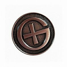 Geocaching Symbol, antique copper