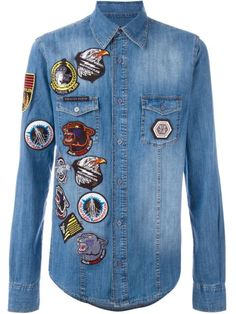 PHILIPP PLEIN 'Overloaded' Denim Shirt. #philippplein #cloth #shirt