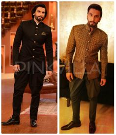 Ranveer Singh in Sabyasachi YaY or NaY is part of Mens pants fashion Ranveer Singh wore traditional Sabyasachi creations for the promotions of his movie Ramleela While he wore jodhpurs for & - Indian Groom Dress, Wedding Dresses Men Indian, Wedding Outfits For Groom, Wedding Dress Men, Wedding Tuxedos, Indian Weddings, Wedding Suits, Wedding Attire, Indian Wear