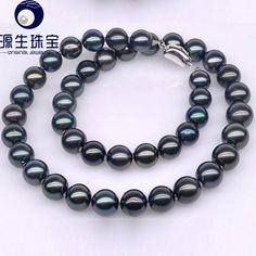 Aliexpress.com : Buy Yuansheng Multi Colored Tahitian Cultured Black Pearl Necklace 9 10.8mm with S925 Silver Clasp from Reliable necklace shield suppliers on pearls by yuansheng