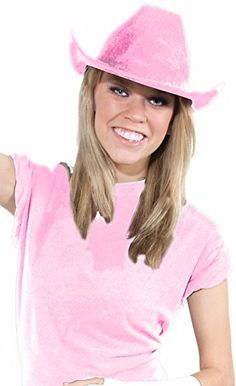 Deluxe Cowboy Hat Team Spirit Adult Unisex Fan Gear Party Hat - Standard, Pink *** Click image to read more details. #MenHeadwear