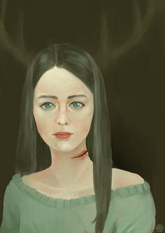 Abigail Hobbs Art Work -The girl who fathers love by ZZ1114 on deviantART #Hannibal #FannibalArt