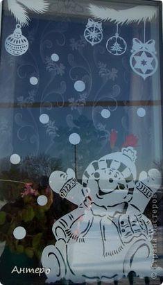 Поделка изделие Новый год Вырезание новогодние окошки 2013 Бумага фото 4