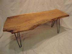 Live Edge English Walnut Coffee Table @Libby Toussant