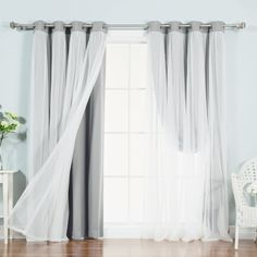 Best Home Fashion, Inc. Lace Tulle Overlay Light Filtering Blackout Curtain Panel & Reviews   Wayfair