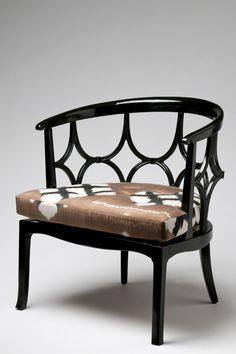 Madeline Weinrib Sable Simon Ikat Laquer Chair
