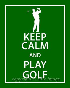 8x10 KEEP CALM and Play Golf Print in a modern twist by EliteImage