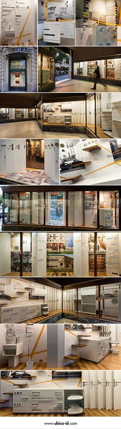 Bolibar's storefront design, a centennial hardware store located in the corner of Rambla Catalunya and Consell de Cent, Barcelona.  Through the combination of photo panels, virtual images and graphic motifs combined in several dispositions, the shop windows turn into thematic expositors of the displayed elements, and show all products, services and overall works Bolibar has to offer to all its customers in an original way.