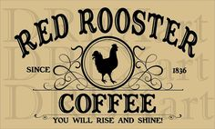 Shop for rooster kitchen decor on Etsy, the place to express your creativity through the buying and selling of handmade and vintage goods. Laser Cut Stencils, Sign Stencils, Rooster Kitchen Decor, Kitchen Signs, Coffee Love, Coffee Art, Coffee Stencils, Red Rooster, Coffee Signs