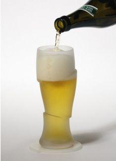 Verre à bière tranché