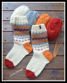 En blogg om stickning och virkning Fair Isle Knitting Patterns, Knitting Charts, Knitting Socks, Knit Patterns, Hand Knitting, Knit Socks, Crochet Slippers, Knit Crochet, Wooly Bully
