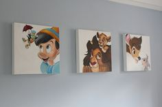 I do think Gray walls would look good for the disney room:)
