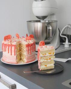 Cake Recept, Baking Bad, Drip Cakes, Food Cakes, High Tea, Let Them Eat Cake, Cake Cookies, Vanilla Cake, Baked Goods