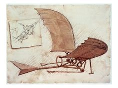 Flying Machine Giclee Print- inspiration for the study