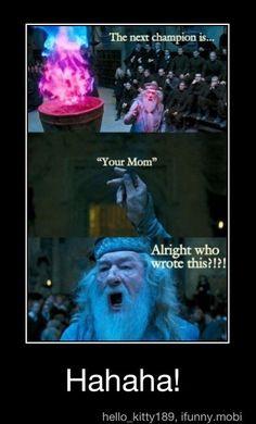 Hahaha Harry potter humor :)