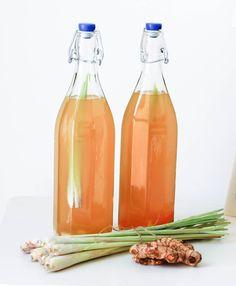 Lemongrass, Ginger and Turmeric Kombucha Tea Recipe