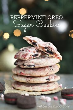 Peppermint Oreo Sugar Cookies