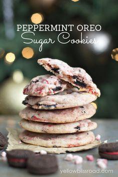 Peppermint Oreo Sugar Cookies recipe { lilluna.com }