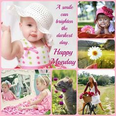 A smile can brighten the darkest day. Happy Monday Images Funny, Happy Monday Gif, Good Morning Happy Monday, Good Morning Good Night, Funny Happy, Happy Weekend, Beautiful Day Quotes, Beautiful Monday, Monday Humor Quotes