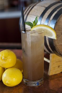 The Texas Tea-Off by Alex Fletcher, Bar Manager of The People's Last Stand Bar + Bistro, Dallas. With lemon juice, local gin and black tea syrup.