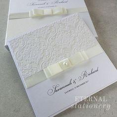Damask Wedding Invitation Created by Eternal Stationery www.eternalstationery.com.au