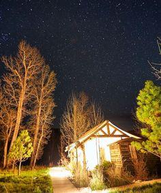 Basking in that glamping glow at Montana's The Ranch at Rock Creek.   📷 @tkgstudios