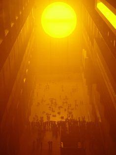 Olafur Eliasson, Tate Weather Project, photo: Patrick Weber