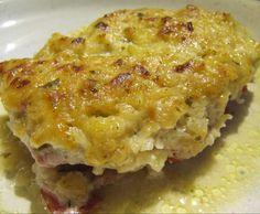 Rezept Überbackene Schnitzel mit Zwiebel-Senf-Kruste von sabri - Rezept der Kategorie Hauptgerichte mit Fleisch