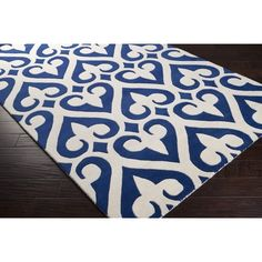 Shop for Jill Rosenwald Hand-tufted Red Reelan Geometric Fleur D Lis Wool Rug x Get free delivery On EVERYTHING* Overstock - Your Online Home Decor Store! Transitional Area Rugs, Navy Rug, Orange Area Rug, Blue Area, Hand Tufted Rugs, Geometric Rug, Accent Furniture, Online Home Decor Stores, Wool Area Rugs
