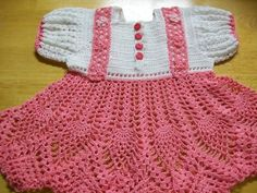 Crochet Baby Dress Pink Baby Dress Handmade by americanmadecrochet, $45.00