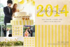 年賀状テンプレート |nico◡̈*blog 手作り結婚式