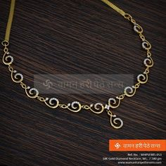 Diamond Necklace Gold and Gorgeous Indian design diamond necklace - Diamond Necklace Simple, Gold Jewelry Simple, Diamond Pendant Necklace, Diamond Jewelry, Silver Jewelry, Halo, Couple Jewelry, Jewelry Sets, Gucci