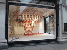 London's Selfridges department store has teamed with Studio XAG for its latest window display – a tribute to legendary footwear designer Christian Louboutin. Fashion Window Display, Store Window Displays, Shop Displays, Christian Louboutin, Louboutin Shoes, Lily Collins, Pop Up, Selfridges London, Retail Windows