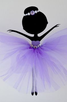 Tutu Canvases. Ballerina Wall art. Purple lavender by FlorasShop