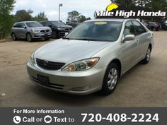 2003 *Toyota*  *Camry* *LE*  110k miles $6,999 110563 miles 720-408-2224 Transmission: Automatic  #Toyota #Camry #used #cars #MileHighHonda #Denver #CO #tapcars
