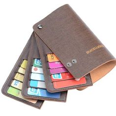 Amazon.com: Teemzone Men Women Genuine leather Name Credit Business Member Card Case Holder (Coffee): Clothing