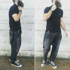 Pantalon usual fit black used dcjeans jeans + polo dcjeans + converse.