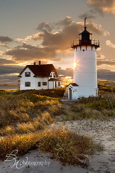 Race Point Lighthouse - Active lighthouse built in 1816, open infrequently for tours, with lodging in historic buildings.in Provincetown, MA.