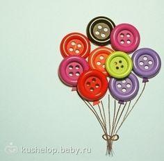 поделки из пуговиц для детского сада - Поиск в Google