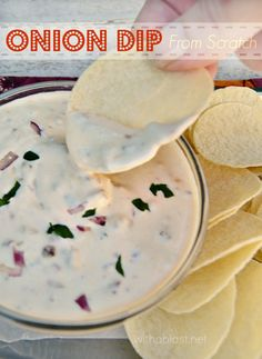ONION DIP FROM SCRATCH by With a Blast