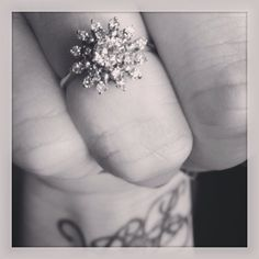 Stunning antique 19 diamond cocktail or engagement ring 18k white gold on Etsy, $1,000.00