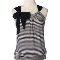 DIY t-shirt, cut up, sewn up, bow inserted. -- Welcome to My website:  http://www.aliexpress.com/store/919173