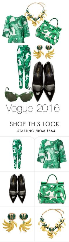 """Vogue 2016 cover photoshoot"" by andreamartin24601 ❤ liked on Polyvore featuring Dolce&Gabbana and Yves Saint Laurent"