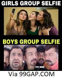 Funny Selfie Of Girls Vs Boys Funny Selfies Girl Humor Funny Facts