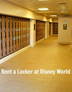 Rent a locker at Disney World to store items you don't want to carry with you all day long, like your packed lunch!  (Also ... here is the link to the official Disney Locker Rental page:  https://disneyworld.disney.go.com/guest-services/locker-rentals/ )