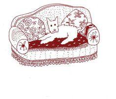 Karouf si rilassa sul divano realizzato da Nuova Domus Udine  Disegno di Mario Tudor - Milano