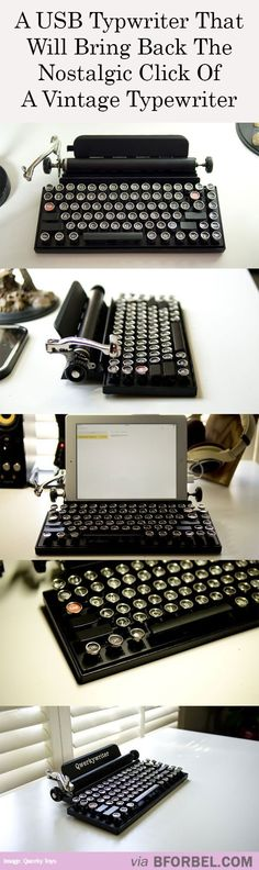 USB Typewriter For The Hipsters Of The World…if loving this makes me a hipster, than so be it.