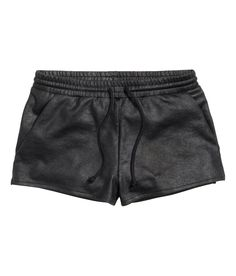 Short shorts in coated sweatshirt fabric.| H&M Divided