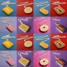 Mini-charm necklaces by Nikki McWilliams - so incredibly cute