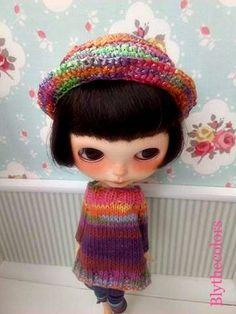 Sombrero de rafia para Blythe de Blythecolors en Etsy
